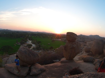 sunset on Hampi island