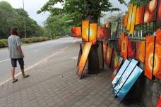 random street exhibition