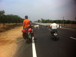 traffic on the way to Pondicherry