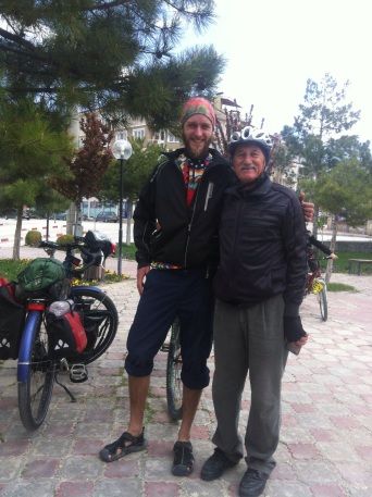 Husseyin, in his mid 70s, been an active cyclist since 11. a real inspiration!
