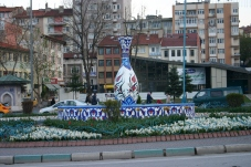 Giant porcelain vase! one of the main attractions in Edirne near the end